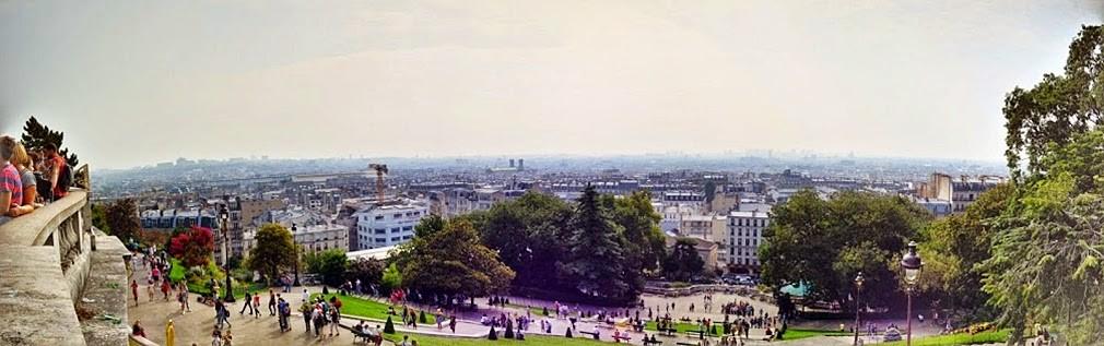 panorama z Sacre Coeur