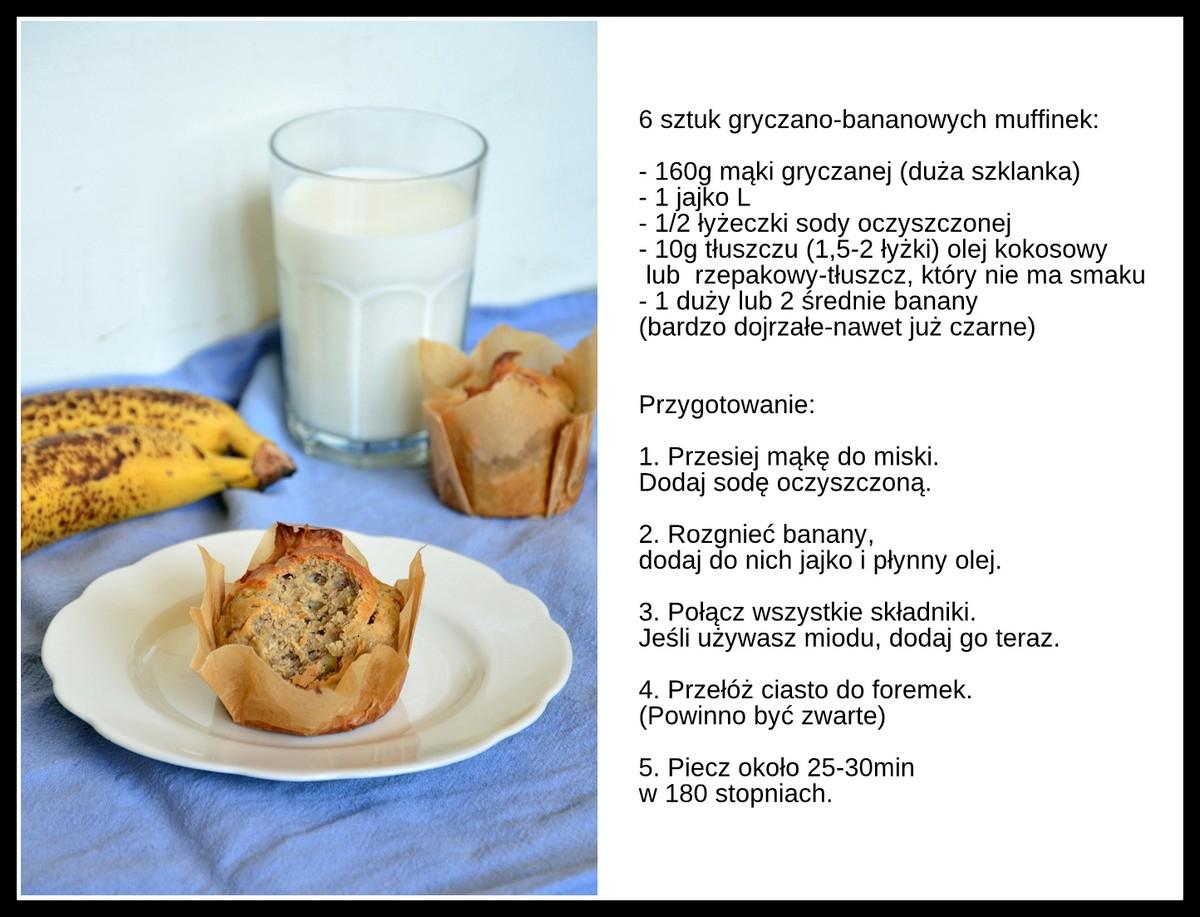 gryczane muffinki przepis