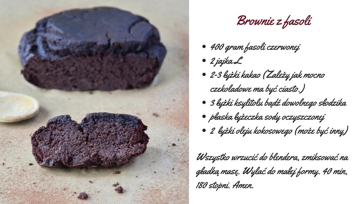 brownie z fasoli przepis